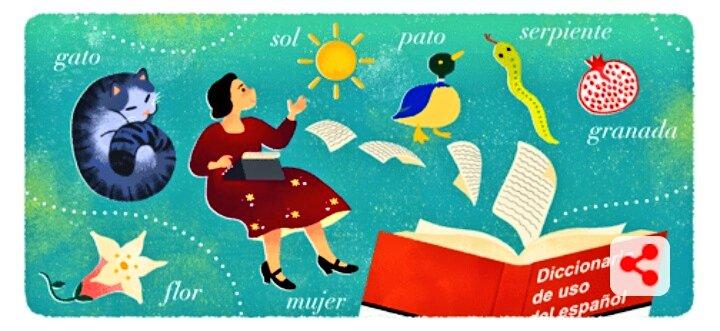 María Moliner, el mejor diccionario del castellano y el reconocimiento deGoogle